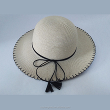custom made chinese cheap women summer panama beach sombrero fedora straw hats to decorate