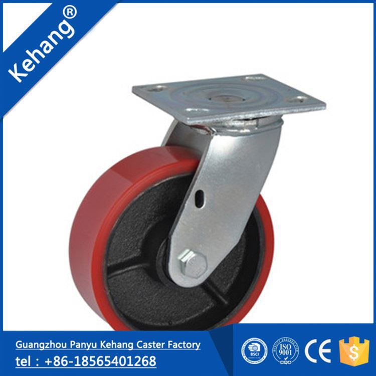 chinese wholesale new products popularagile pp new design swivel rubber caster mold on cast iron wheel