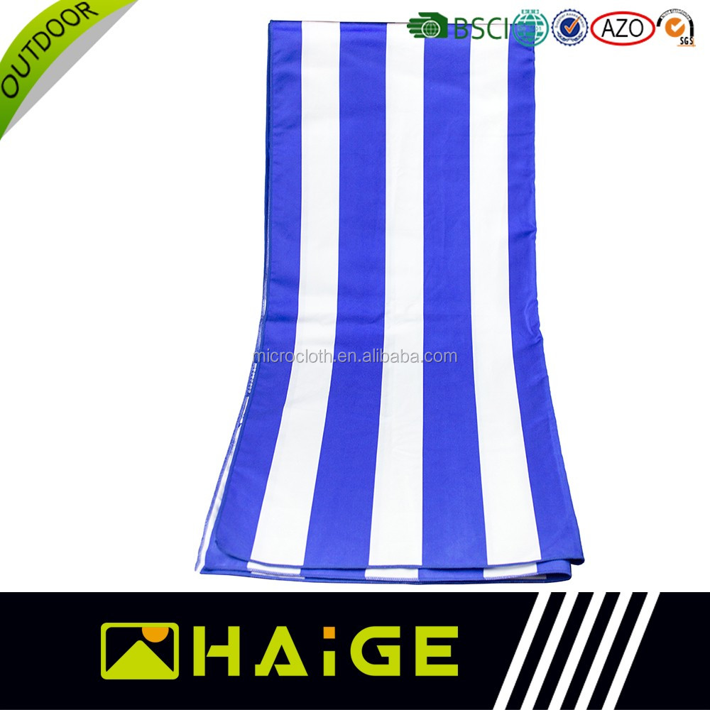 China Factory Supplier Custom printing stripe promotional beach towel