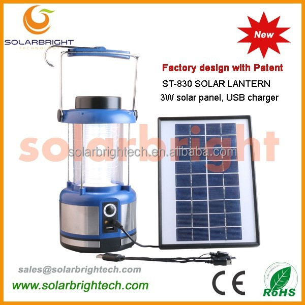 Manufactured emergency portable solar lighting powered led rechargeable lantern with radio USB charge