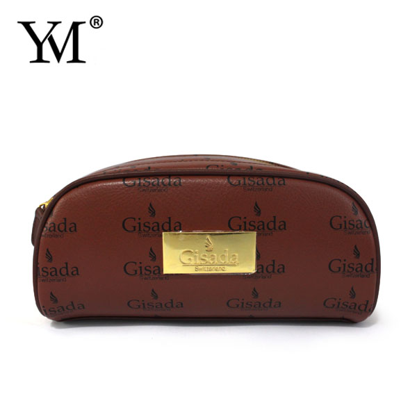 China Supplier Wholesale Accept Custom Low Price Plain Leather Toiletry Makeup Bag
