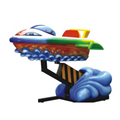 Dolphin Boat Coin Operated Kiddie Rides Amusement Kiddie Rides For Sale Kid Games Machines
