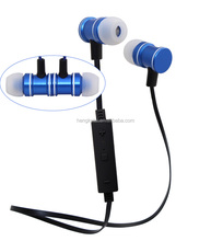 Popular bluetooth wired earphones with mic and volume control,handsfree sports earbud earphones with magnetic