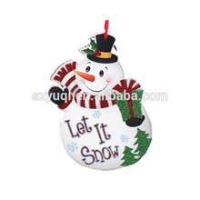 New products custom fabric snowman hanging felt christmas decorations