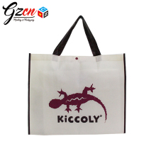 custom printing logo handle gift reusable shopping fabric shoes bag