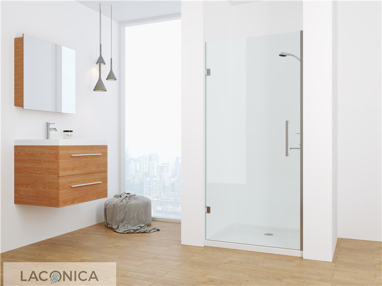 China Supply Hinged Frameless 58 Glass Shower Door for Sale