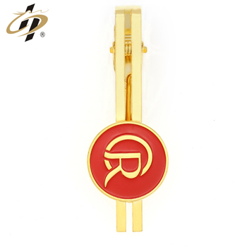 High quality brass gold metal custom enamel logo tie clip