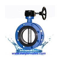 worm gear drive flange butterfly valve