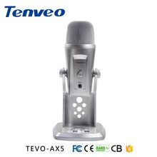 Tenveo AX5 plug-and-play USB condenser microphone for singing , live video streaming, music record and conference call