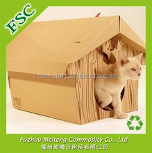 FSC Certified Foldable Cardboard Pet House