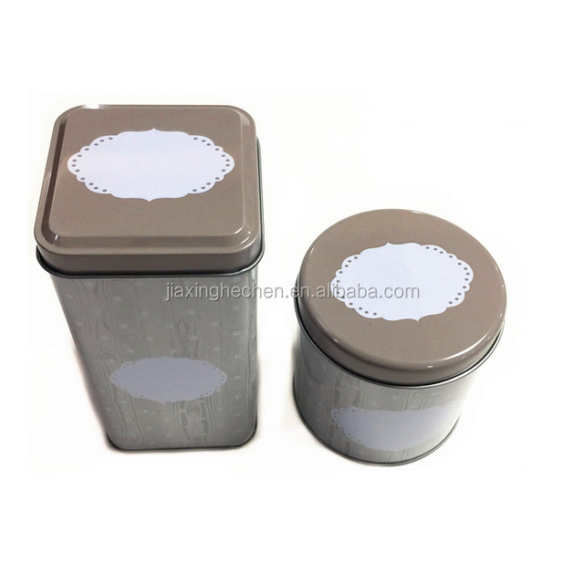 Square metal tea packing tin box 3