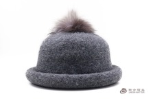 New Elegant Women WinterHats ladies Wool Dome Fedoras Cheap Winter Warm Bowler hat for women