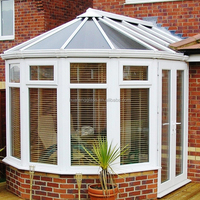 white color fashion sunrooms from safety glass factory's design with lowest price