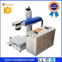 High precision 3D mini fiber laser marking machine , portable Metal Laser Printing Machine