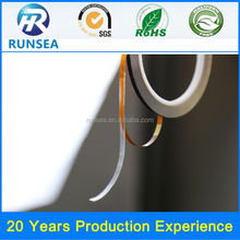 Good sell remove easliy double side tape jumbo rolls good thermal stability non substrate double-sided tape