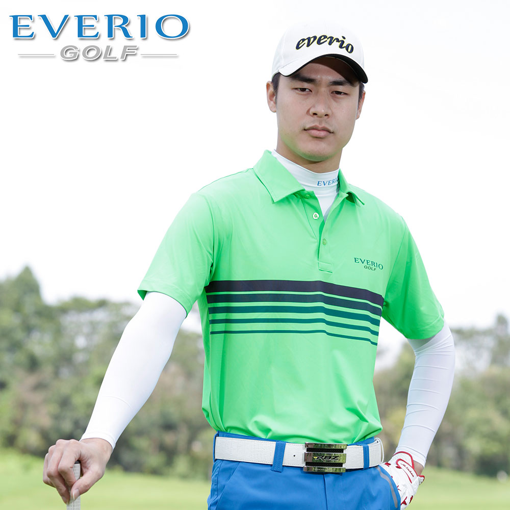 EVERIO GOLF tennis t shirt manufacturers china breathable custom cheap dry fit mens golf T-shirt