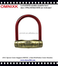 OBL-178 New product 2015 brass pad locks for bicycle
