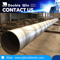 Manufacturing Q235B SSAW larger size spiral pipe use for water and gas