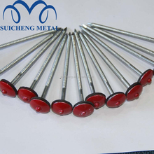 Guangzhou factory Free Sample 4 inch Galvanized umbrella head galvanized colored roofing nails
