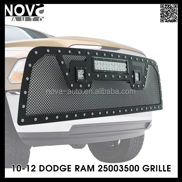 Auto Parts Truck Replacement Parts,Car Chrome Front Grille For Dodge Ram 1500