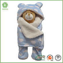 Wholesale Light Blue Super Soft Organic Swaddle Blanket