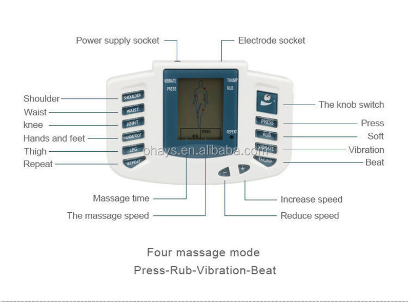 Home Use Minihealth Herald tens therapy massage machine With 4 pads, Electronic Tense tens therapy massage machine Price