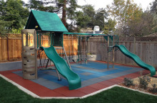 Rubber Playground Tiles Playground Rubber Mulch Safe-Play Tiles
