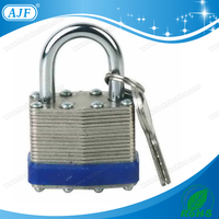 1-9/16in (40mm) Wide Laminated Steel Pin Tumbler Padlock, Non-Removable Key, Keyed Alike