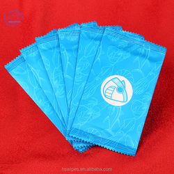 Custom refreshing 1pc cleaning high quality cheap wet wipes for hotel / airline