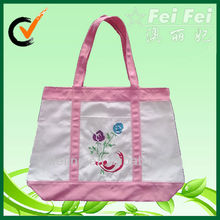 10oz ecofriendly natural cotton shopper with embossing print