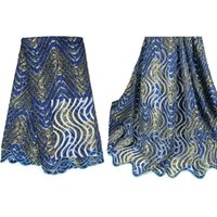 2016 Shiny design blue african french net lace for dress,Genuine Batik Fabric Garutan from Indonesia Hand Stamp Wax Fabric