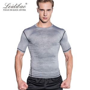Fitness men running training clothes dri fit sports wear elastic compress speed drying sports clothing