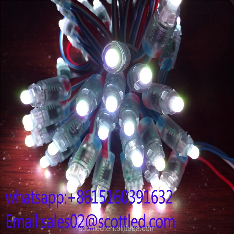 9mm 5V Digital RGB LED Pixels light WS2811 led rgb outdoor lights Waterproof IP68