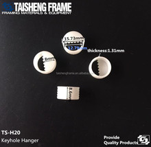 tsh20 keyhole round hanger photo frame plastic hanging <strong>hook</strong> 16mm