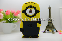 3D Silicone despicable me minions case for samsung s4 i9500 ,cartoon despicable me case for samsung galaxy s4