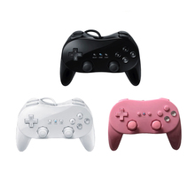 White/Black Classic Wired Game Controller Joystick Gaming Pro Remote Game Controller Gamepad For Nintendo <strong>Wii</strong>
