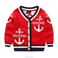 2017 V neck outfit pretty small baby boys softness anchor cardigan unlined children sweater