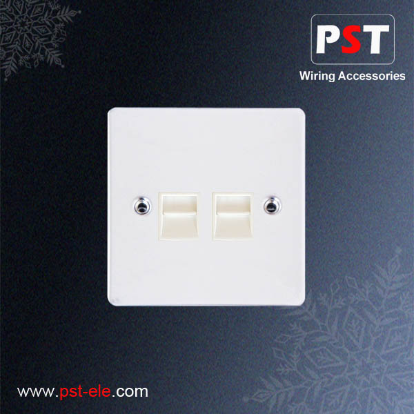 2 Gang Telephone Socket Outlet,Secondary