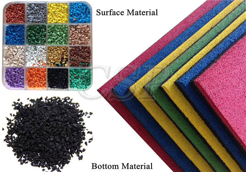 Epdm Surface Anti Slip Interlocking Rubber Gym Floor Tile