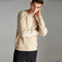 OEM Service Men Business Style Flat Knitted Pullover 100% Cashmere men Sweater