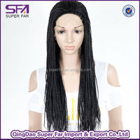 wholesale black hair good quality lace braided wig for black women
