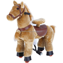 HI CE best selling spring ride on horse toys,kid riding soft plush horse toy