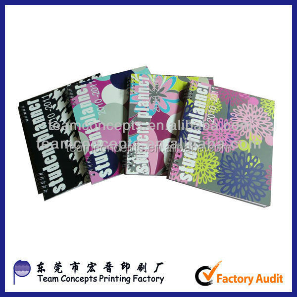 Custom printing A4 spiral notebook from china supplier