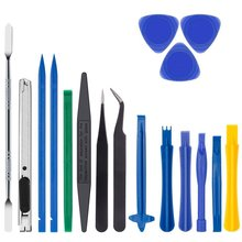 Hot Selling 18 In 1 Professional Opening Cell Phone Tool Kit With Non Abrasive Nylon Spudgers And Pack of 2 Anti Static Tweezers