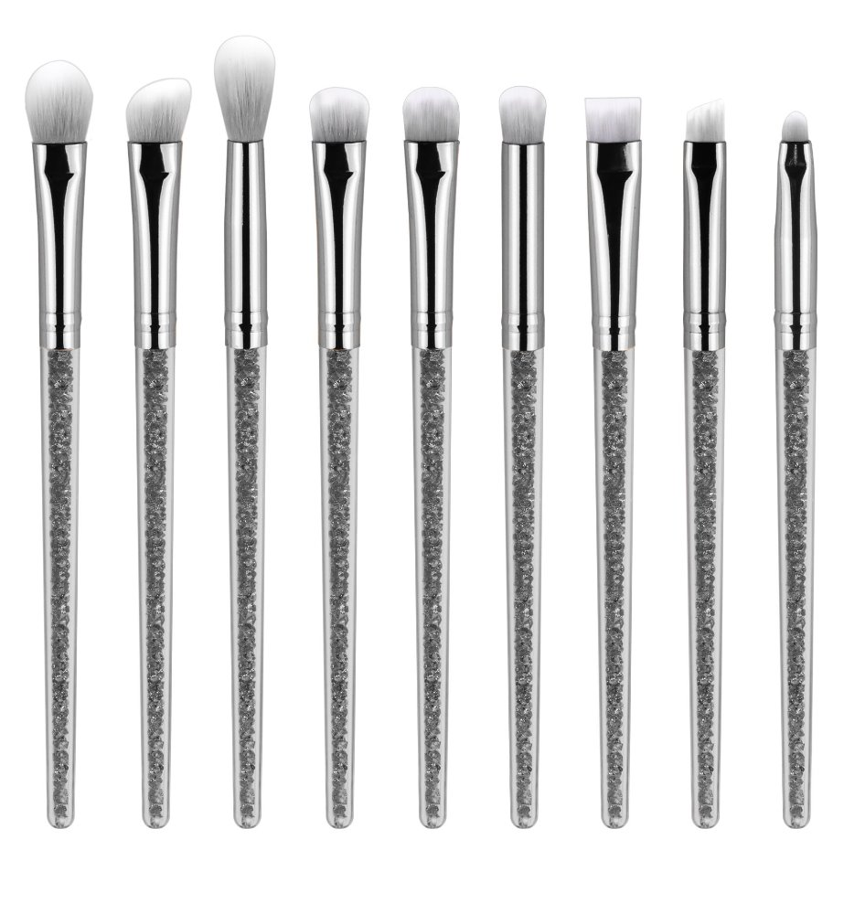 ZOREYA New Arrival Unique Design Professional Diamond Facial Cosmetics Brush Set Creative Fashion POwder Foundation Makeup Brush