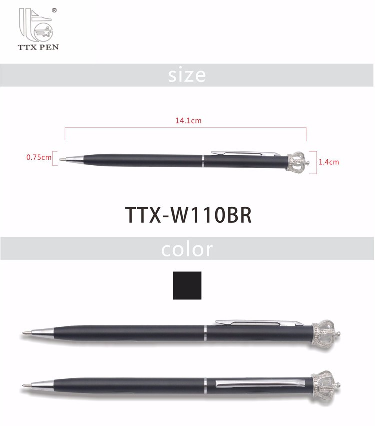High Quality Promotional Custom Logo Ballpoint Pen Luxury Fashional Crown Pen