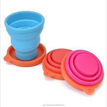 OEM soft portable customized eco-friendly silicone tea cup