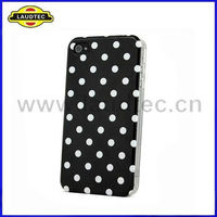 Laudtec For iPhone 4S & 4 Polka Dots IMD Hard Case Cover New Arrival High Quality