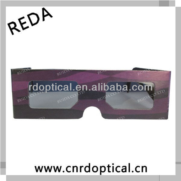 Convenient paper 3D linear polarized glasses for classic adult movies