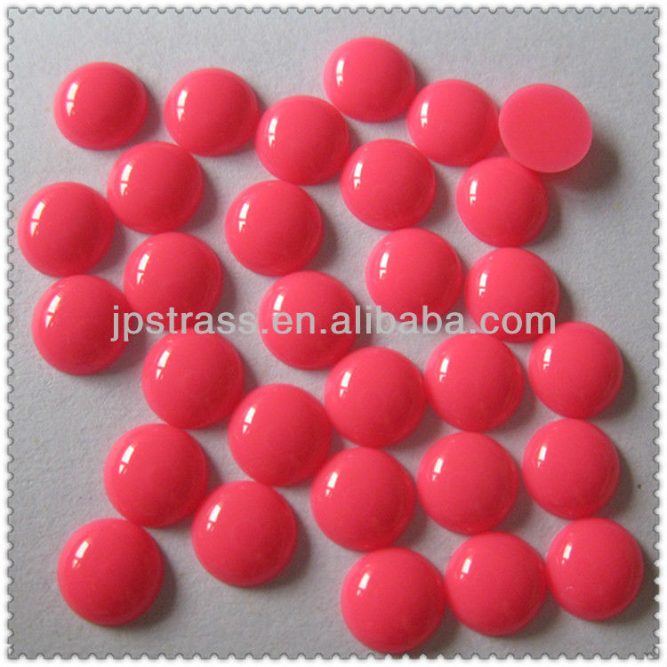 wholesale round flat back hot fix resin stone for shoes